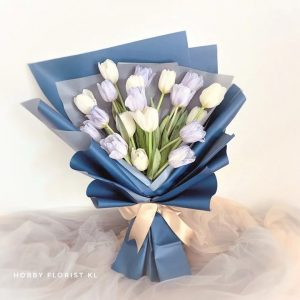 Simple Elegant Tulips Bouquet Malaysia Imported Holland Tulips Delivery Klang Valley Best Affordable Online Florist Kuala Lumpur Flower Gift for Birthday and Anniversary
