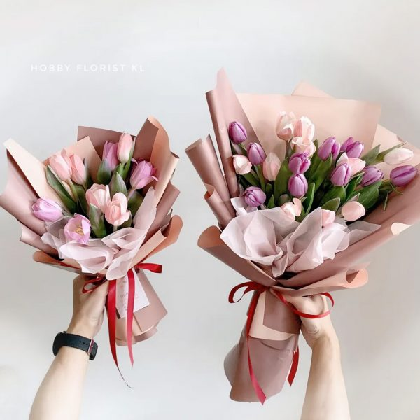 Sweet Pink Tulips Bouquet Malaysia Premium Tulips Bouquet Kuala Lumpur Best Online Florist Tulips Bouquet Delivery Klang Valley Affordable Best Birthday Flowers Anniversary Gift KL