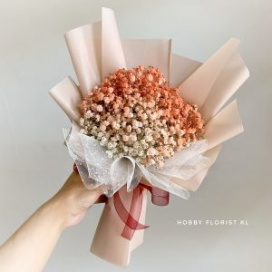 Coral Baby Breath Bouquet Malaysia