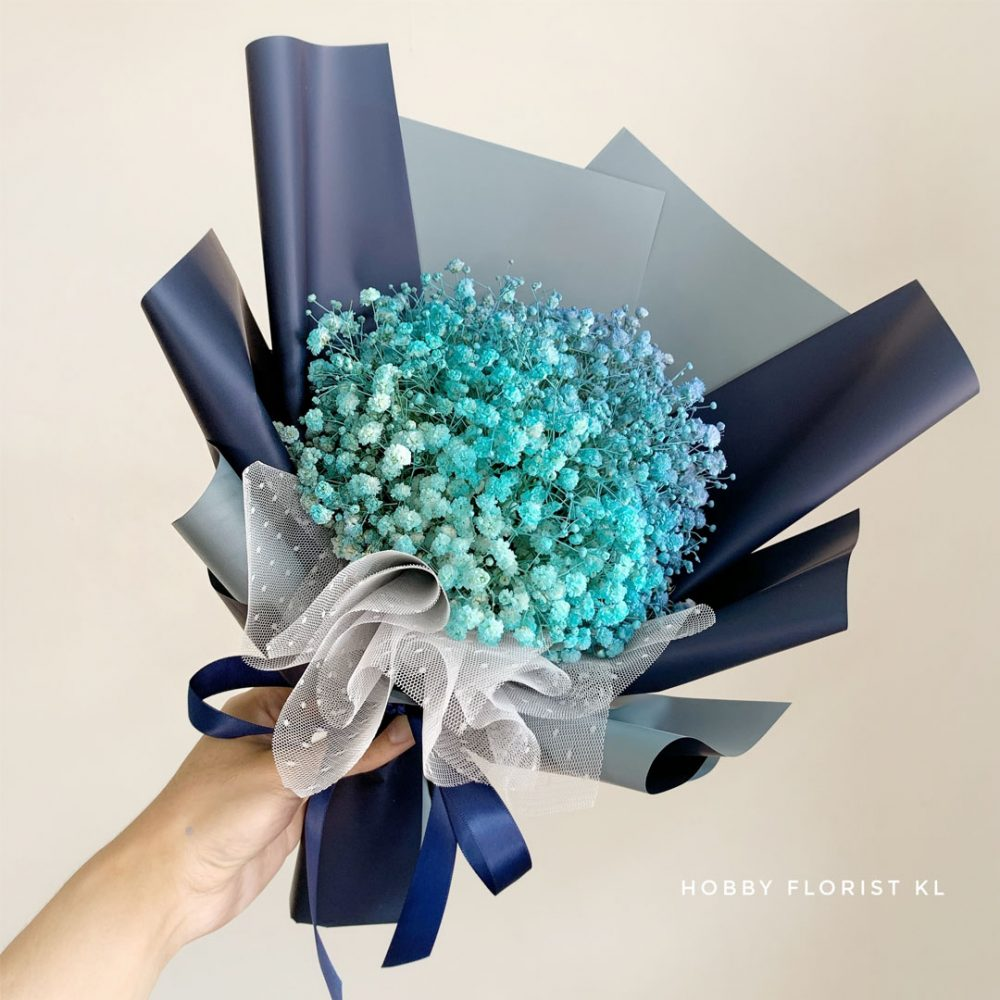 OCEAN Baby Breath Bouquet Malaysia for Birthday Bouquet and Anniversary Bouquet