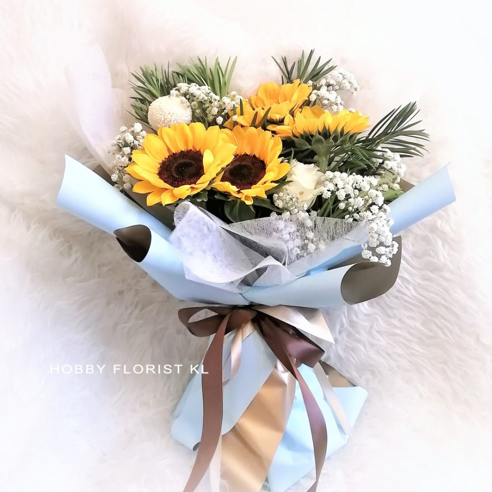 Sunflower Bouquet for any occasion Malaysia Sweet Bouquet Klang Valley