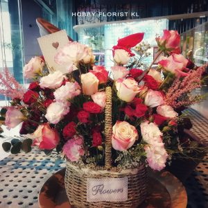 Bella Fresh Flower Basket Malaysia Business Opening Flowers