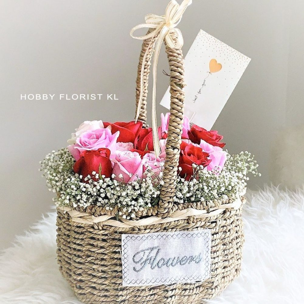Olivia Fresh Flower Basket Malaysia Business Opening Flowers