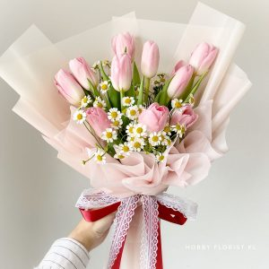Ellie Tulip Bouquet Valentine's Day 2021
