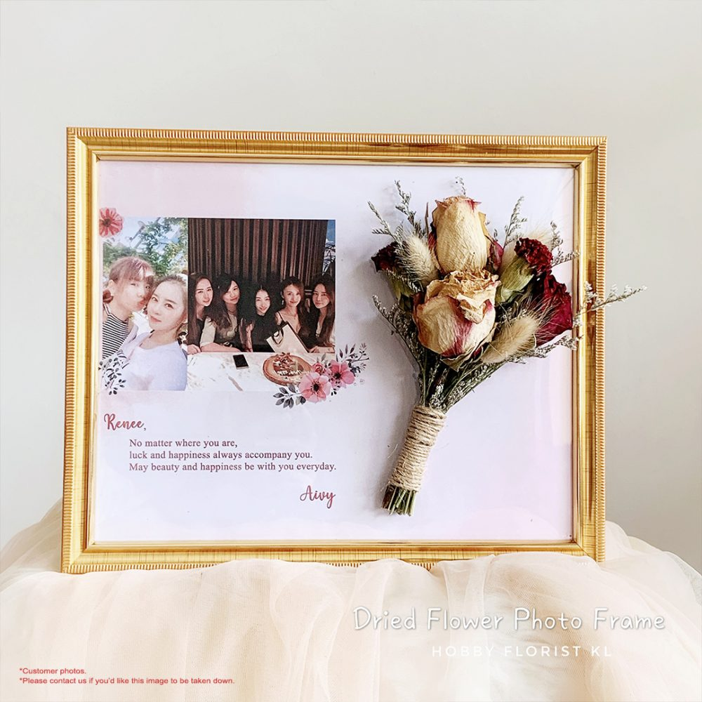 Dried Flower Frame Malaysia Perfect Gift for Birthday and Anniversaries