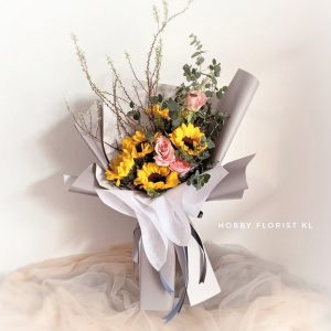 Premium Sunflower Bouquet Malaysia Japanese-style Bouquet for Anniversary and Birthday Gift Kuala Lumpur