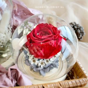 Valentina Preserved Flower Glass Malaysia for Valentine's Day 2021