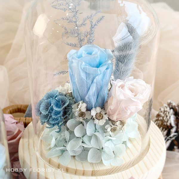 Clarissa Preserved Flower Bell Jar Malaysia for Valentine's Day 2021