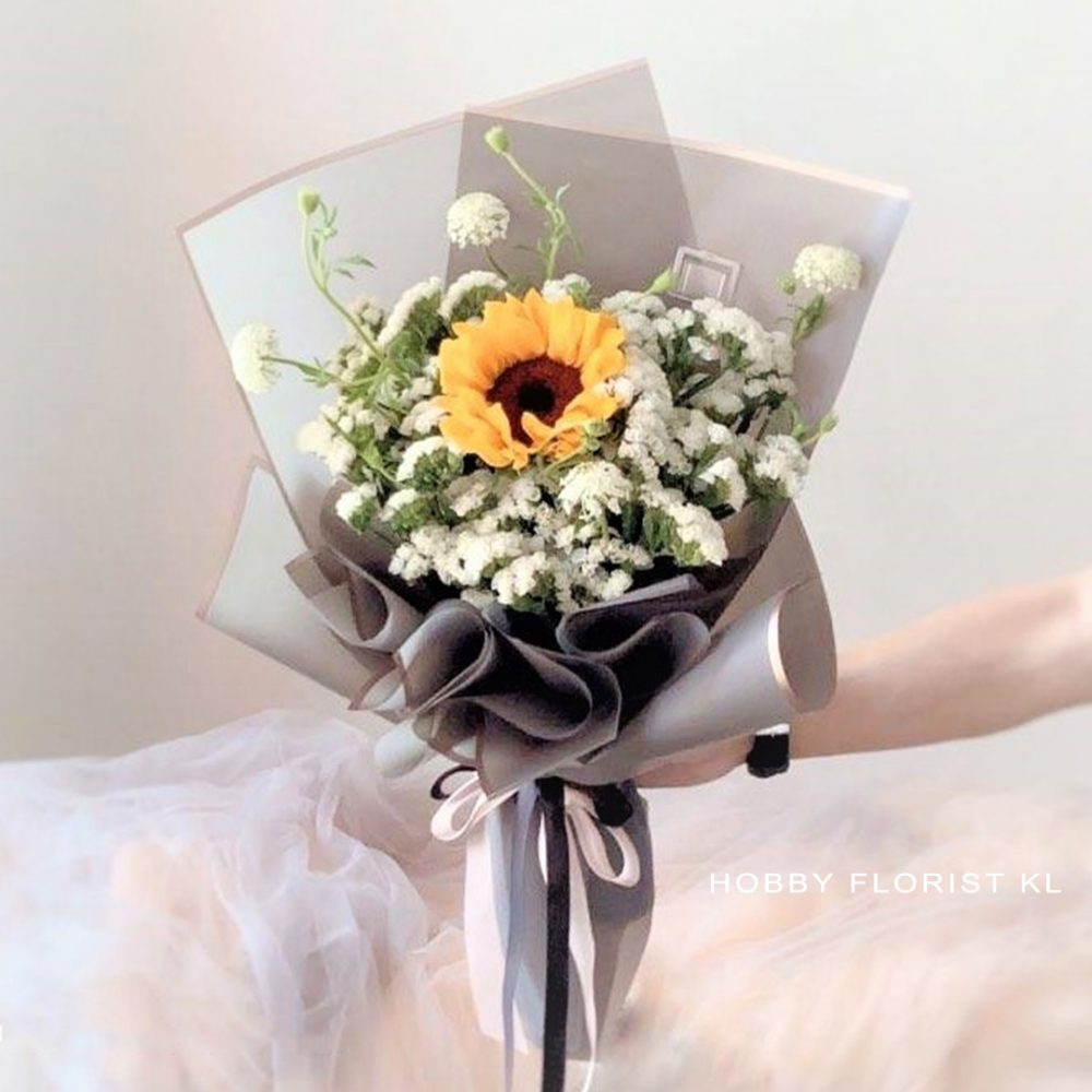 Sunflower Bouquet for any occasions Malaysia Sweet Gift for Anniversary