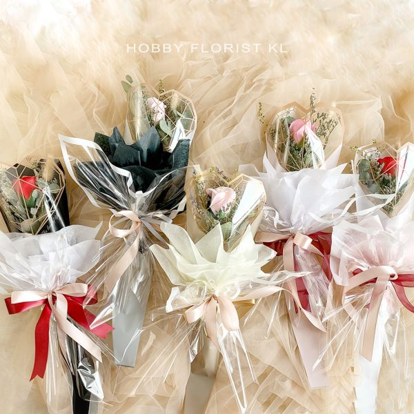 Riley Rose Hand Bouquet Soap Flowers for Valentine's Day 2021 Malaysia