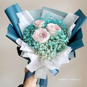 Ocean Rose Bouquet Malaysia for Anniversary and Birthday Bouquet