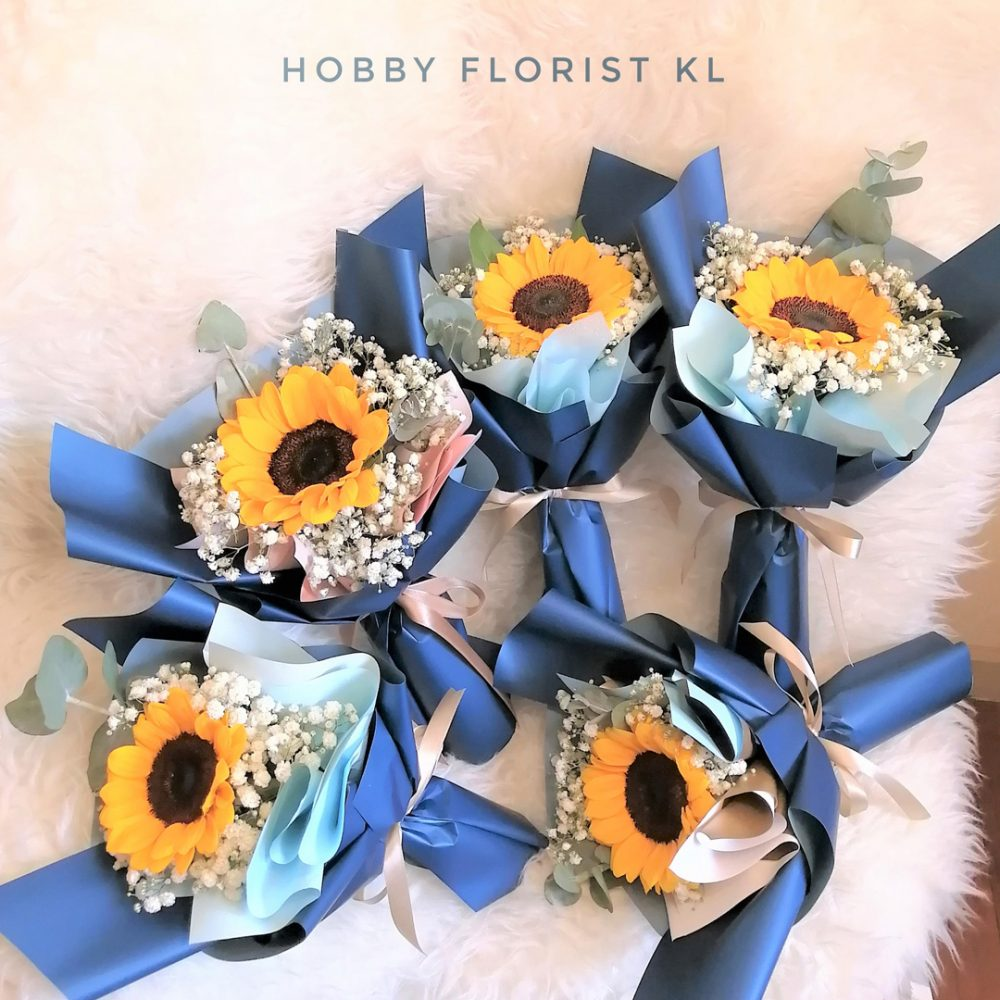 Bundle Deal SunBaby Bouquet Sunflower Bouquet with Baby Breath Malaysia