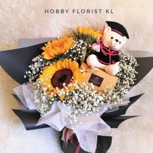 Godiva Grad Sunflower Bouquet for Graduation