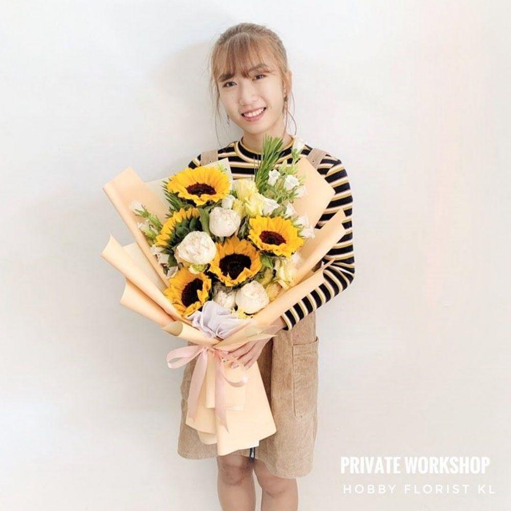 Class Above Sunflower Bouquet for Graduation