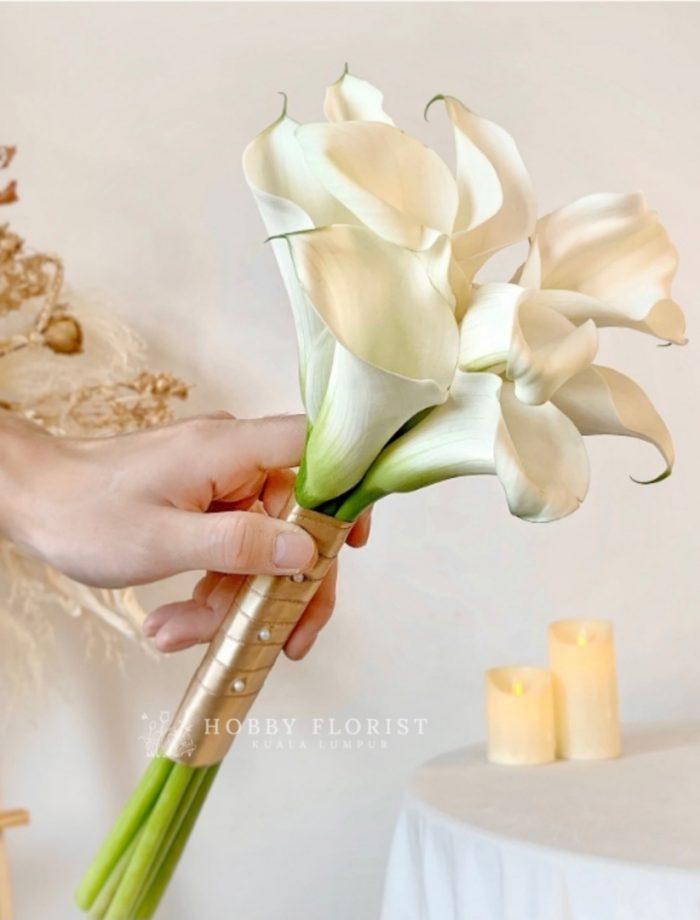 Calla Lily Bridal Bouquet Kuala Lumpur Calla Lilies Bridal Bouquet KL ROM Bouquet Kuala Lumpur Wedding Bouquet KL Delivery Klang Valley Kota Damansara